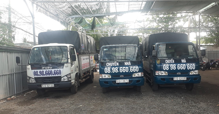 Hệ thống xe taxi tải dịch vụ chuyển nhà trọn gói giá rẻ quận 4 tại Sài Gòn Thành Công