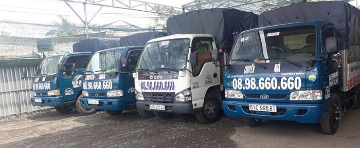 Xe tải dịch vụ chuyển nhà giá rẻ chuyên nghiệp tại Thành Công